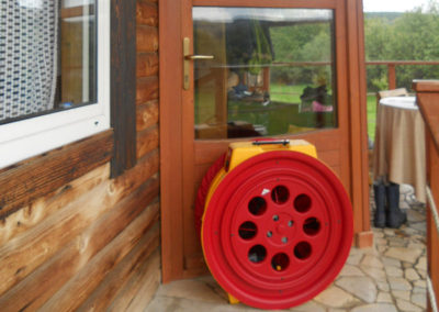 Wooden structure house – Blower door test